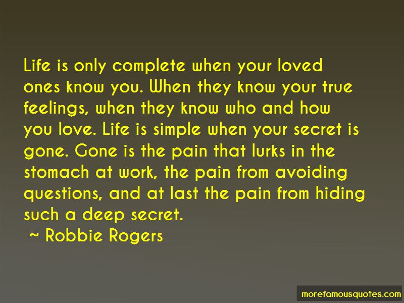 Quotes About Hiding Your Feelings About Love