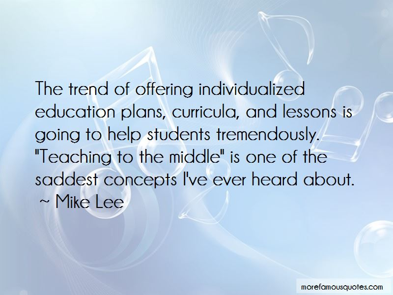 Quotes About Individualized Education