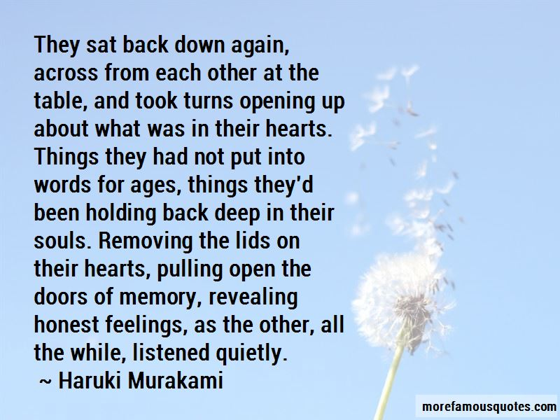 Quotes About Not Holding Back Feelings