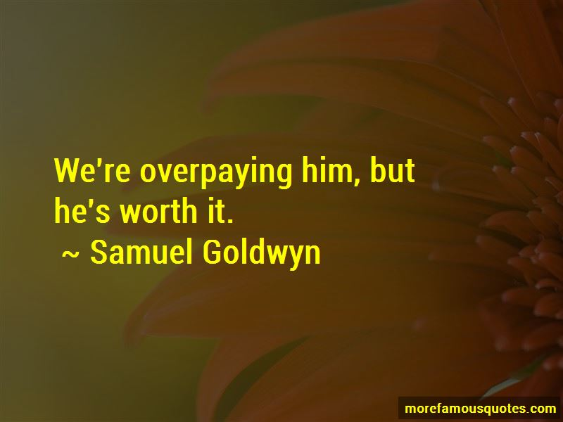 Quotes About Overpaying