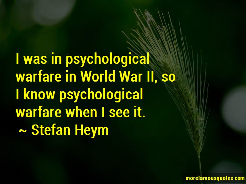 Quotes About Psychological Warfare