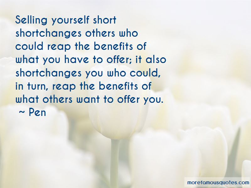 Selling Yourself Short Quotes Pictures 4