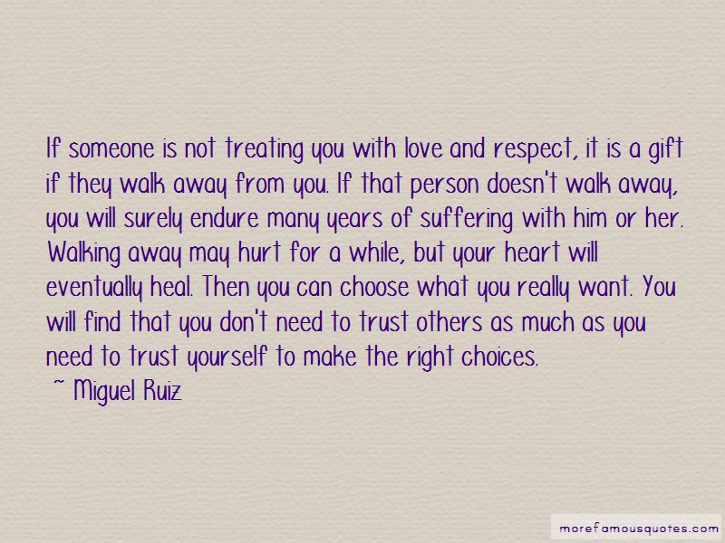 Walking Away From Someone You Love Quotes Pictures 2