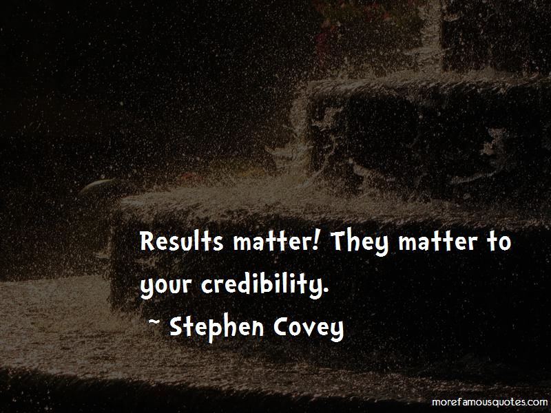 Results Matter Quotes