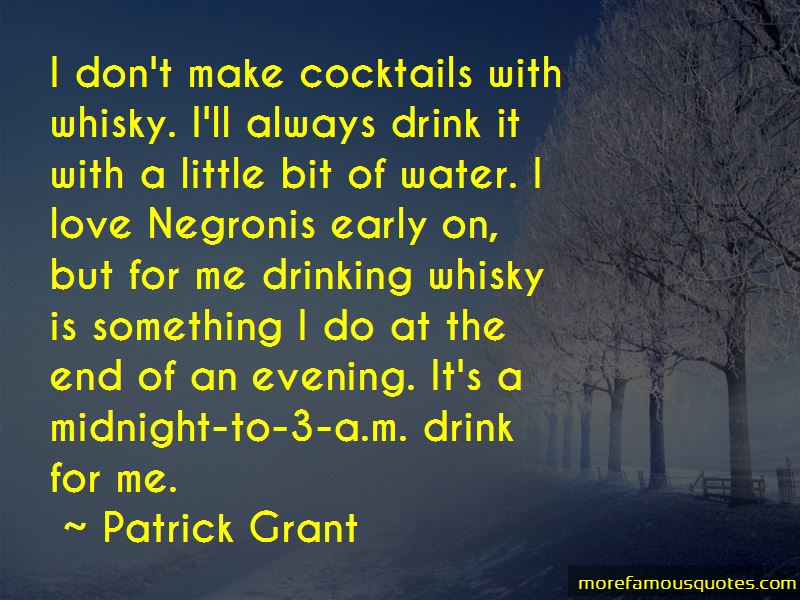 Whisky Drinking Quotes