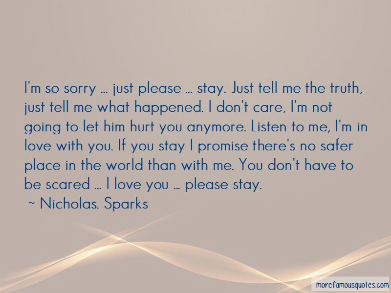 I Love You Please Stay Quotes: top 15 quotes about I Love ...