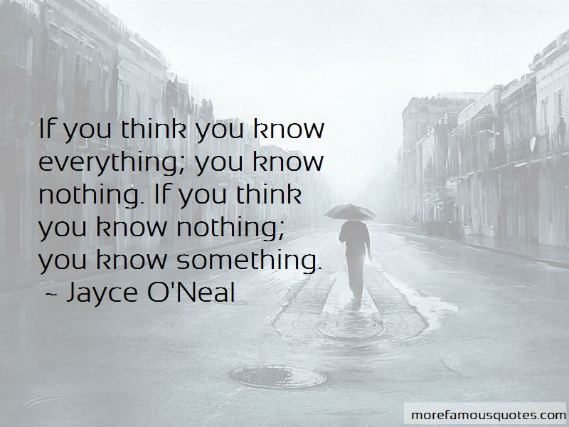 If You Think You Know Everything Quotes