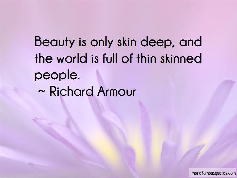 Beauty Only Skin Deep Quotes Pictures 2