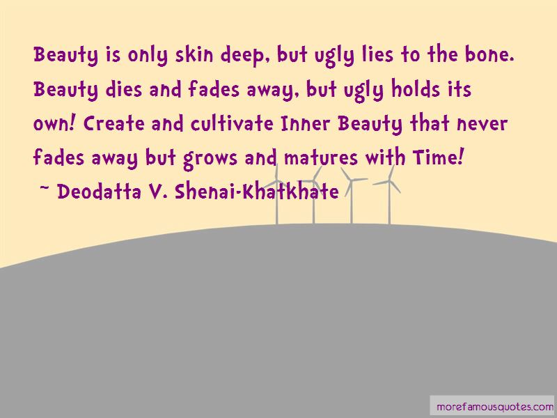 Quotes About Beauty Only Skin Deep