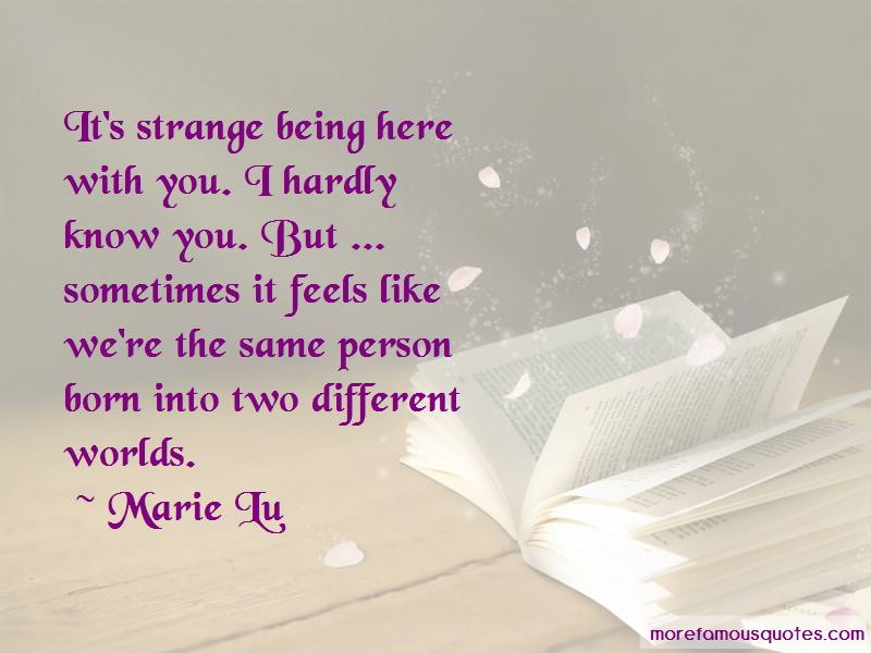 Being From Two Different Worlds Quotes Pictures 4