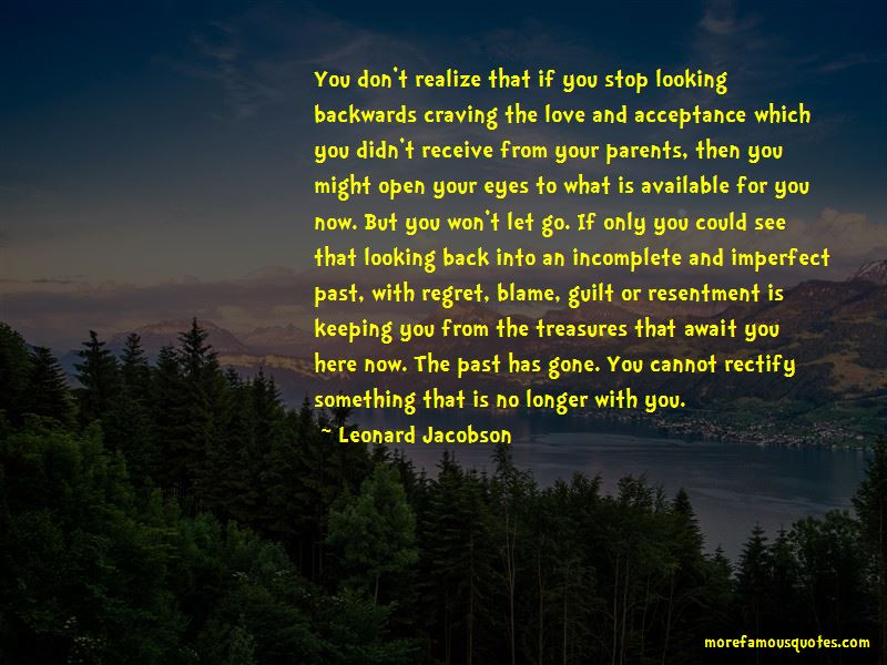 Looking Backwards Quotes Pictures 2