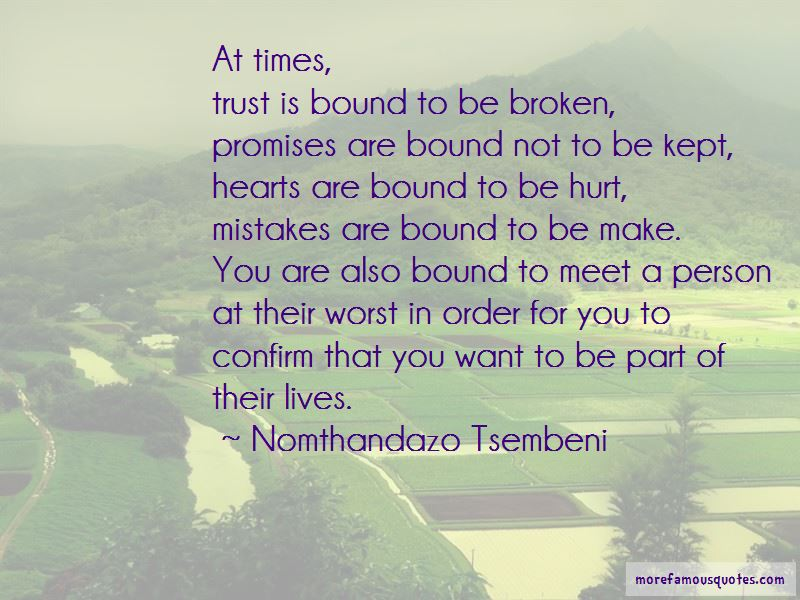 Quotes About Promises That Are Broken
