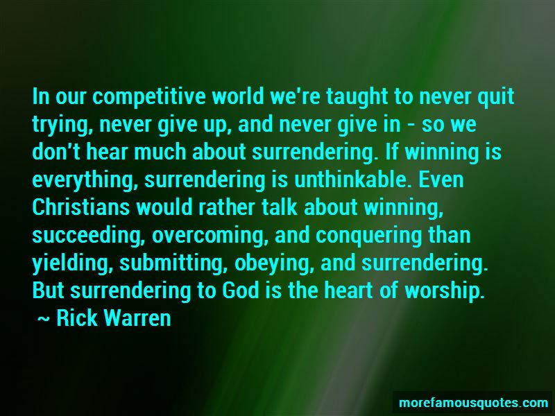 Quotes About Surrendering To God