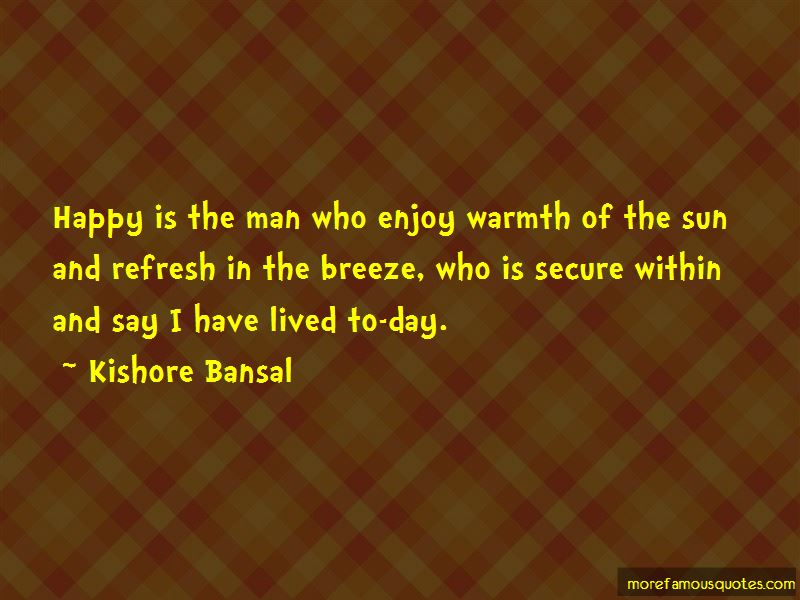 Quotes About Warmth Of The Sun