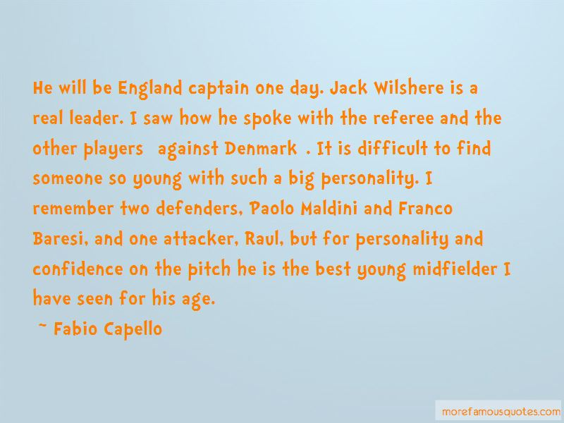 Quotes About Wilshere
