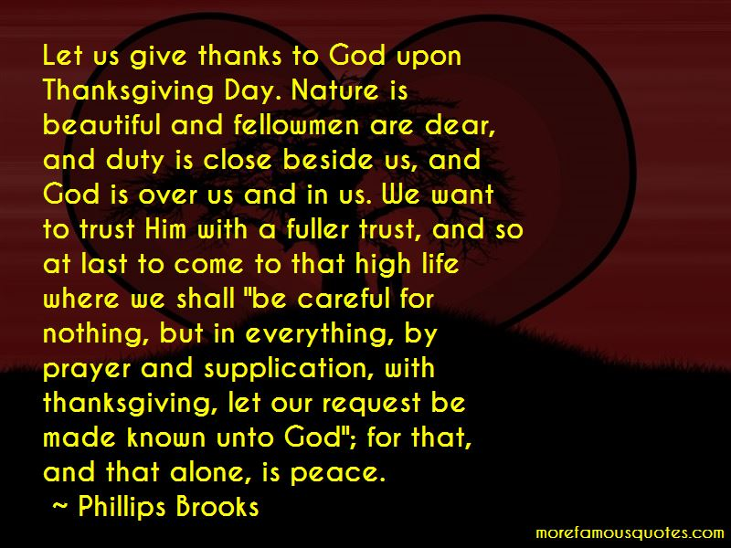 Thanksgiving Thanks To God Quotes