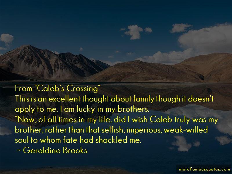 Caleb Crossing Quotes