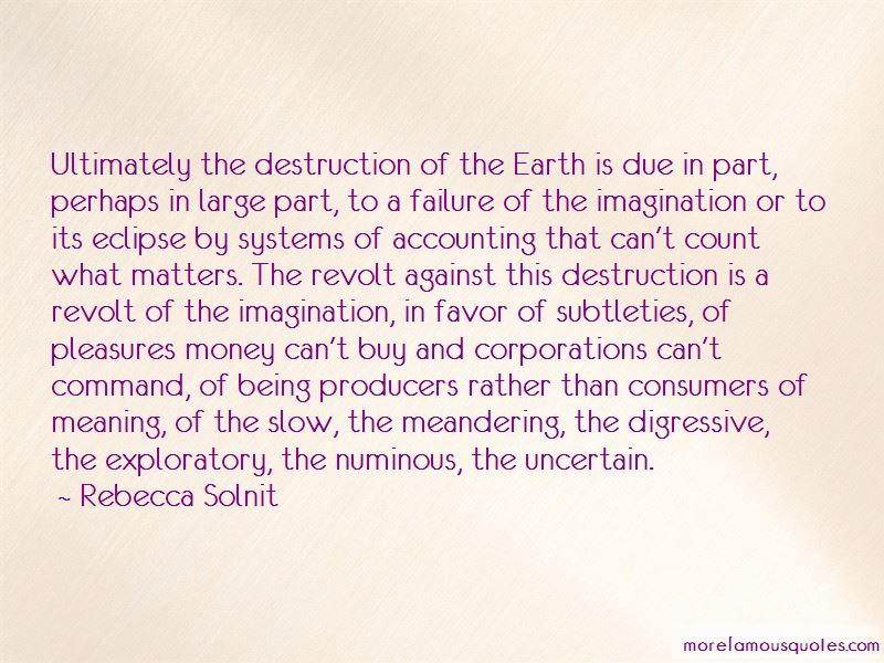 Destruction Of The Earth Quotes