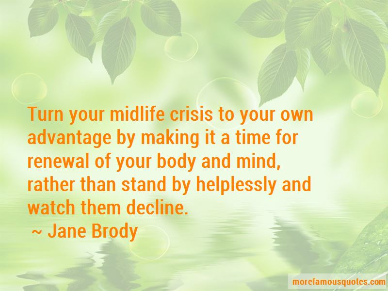 Quotes About Midlife Crisis