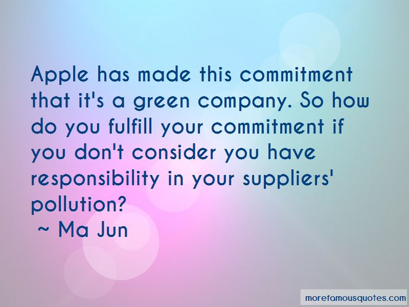 Quotes About Pollution Responsibility