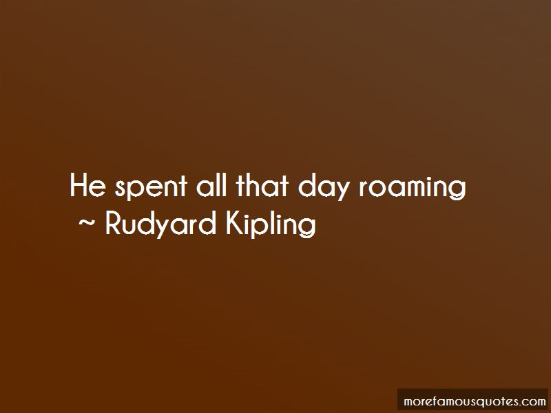 Quotes About Roaming