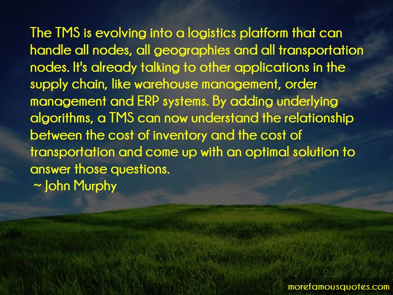 The relationship between transportation and logistics