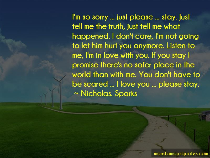Sorry I Hurt You Love Quotes