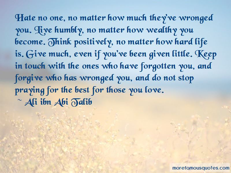 To Those I Have Wronged Quotes