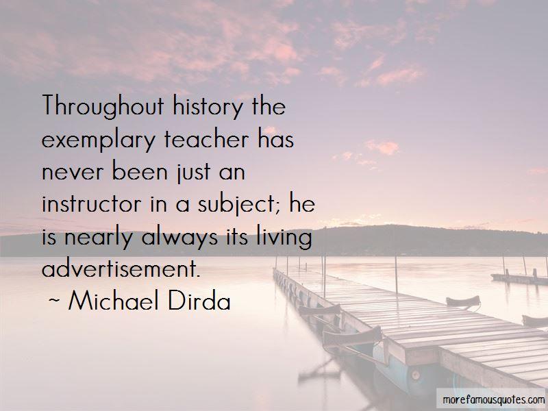 Exemplary Teacher Quotes