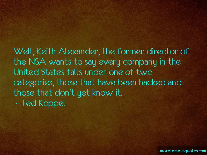 Keith Alexander Nsa Quotes