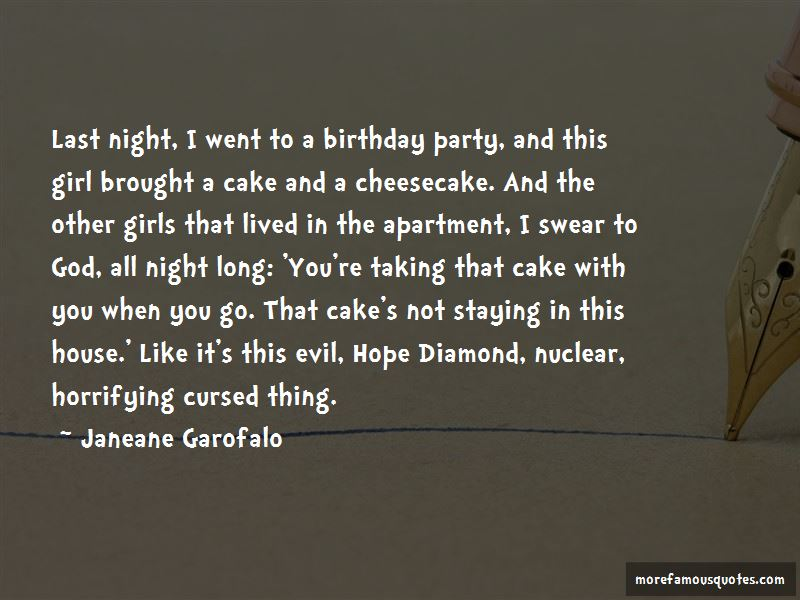 Last Night Birthday Party Quotes Pictures 2