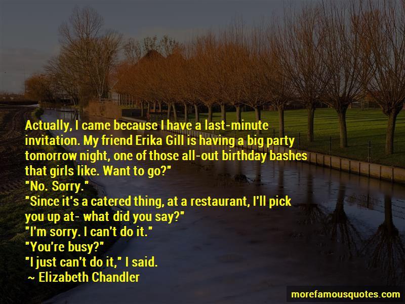 Last Night Birthday Party Quotes