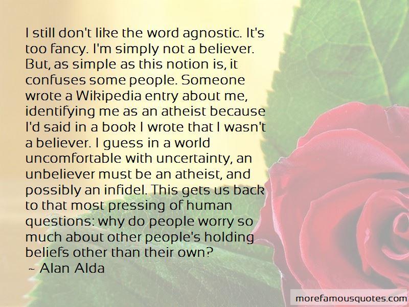 Agnostic Beliefs Quotes Pictures 3