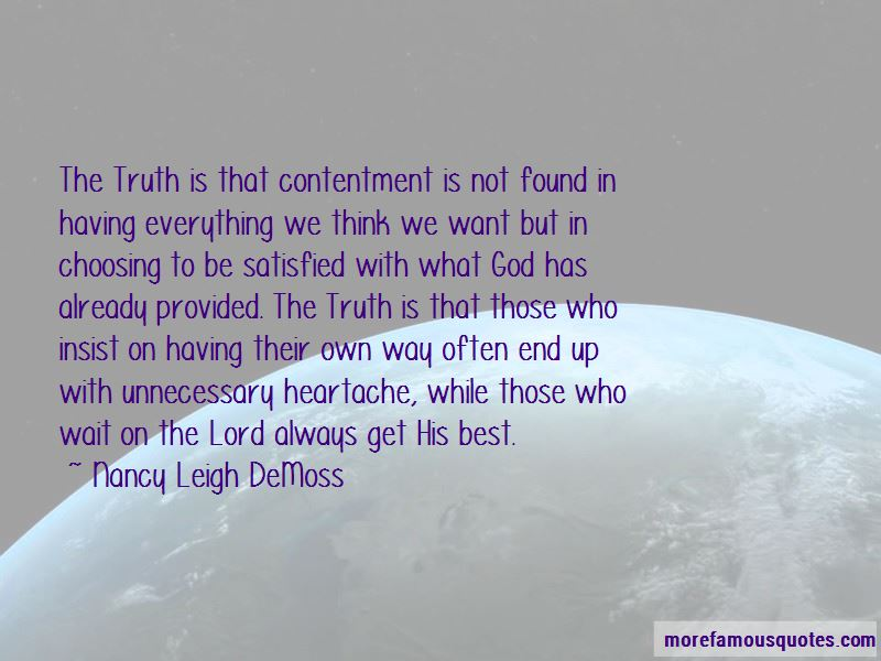 Contentment In God Quotes Pictures 3