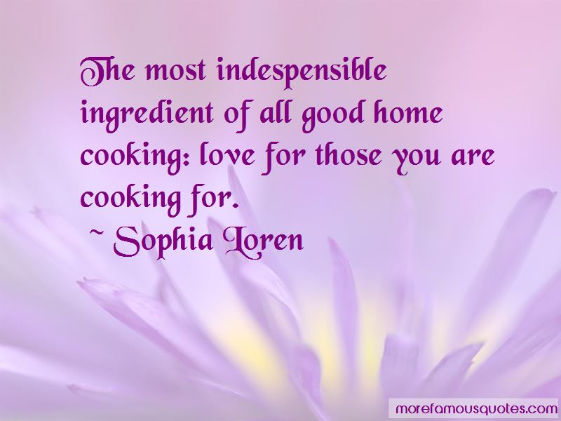Cooking For Those You Love Quotes Pictures 4