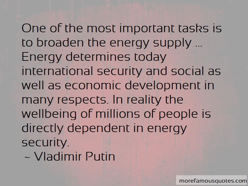 Quotes About Energy Security