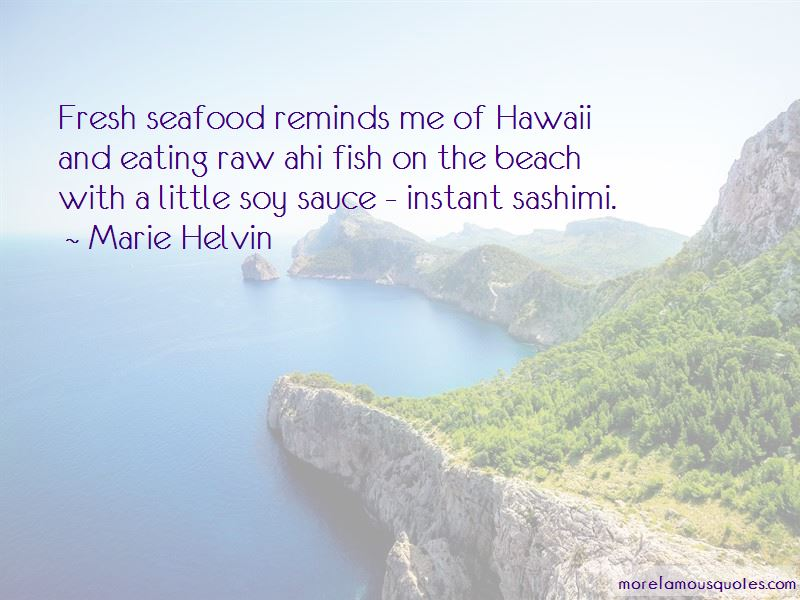 Quotes About Fresh Seafood
