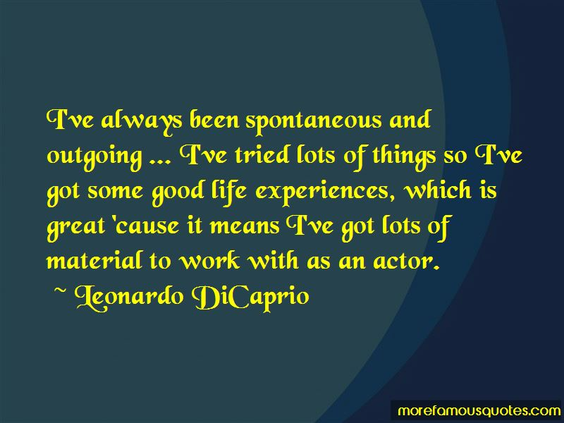 Quotes About Good Life Experiences