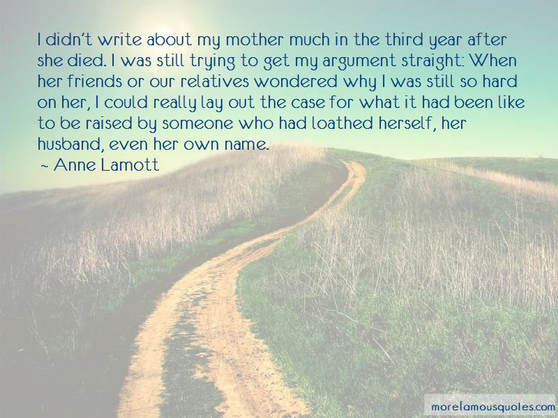 When A Friend's Mother Died Quotes