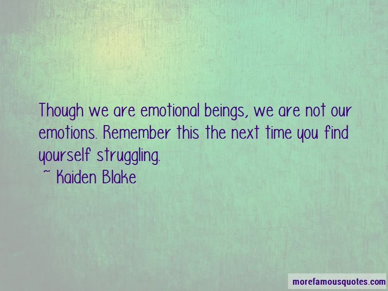 Emotional Beings Quotes
