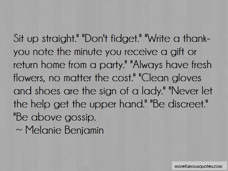 Lady Fidget Quotes