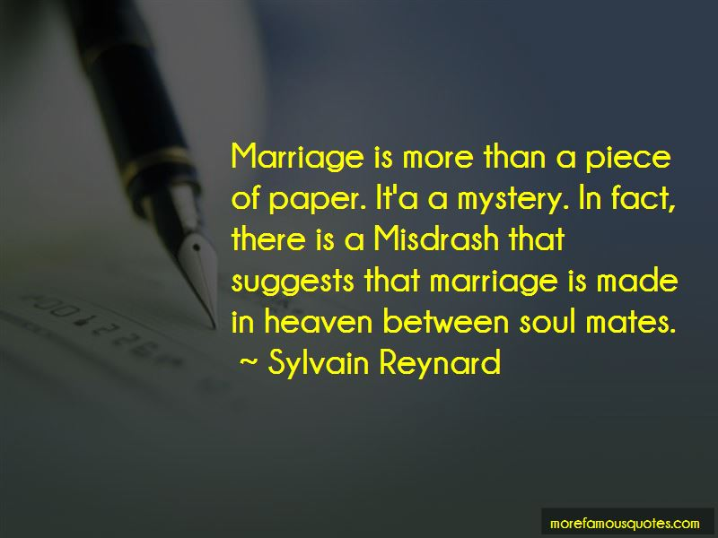 Marriage Is More Than A Piece Of Paper Quotes