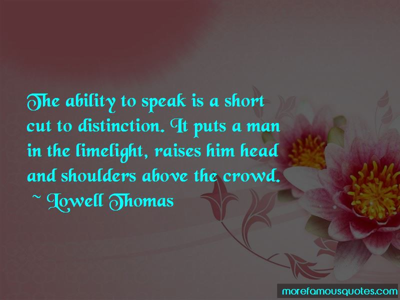 Quotes About Ability To Speak