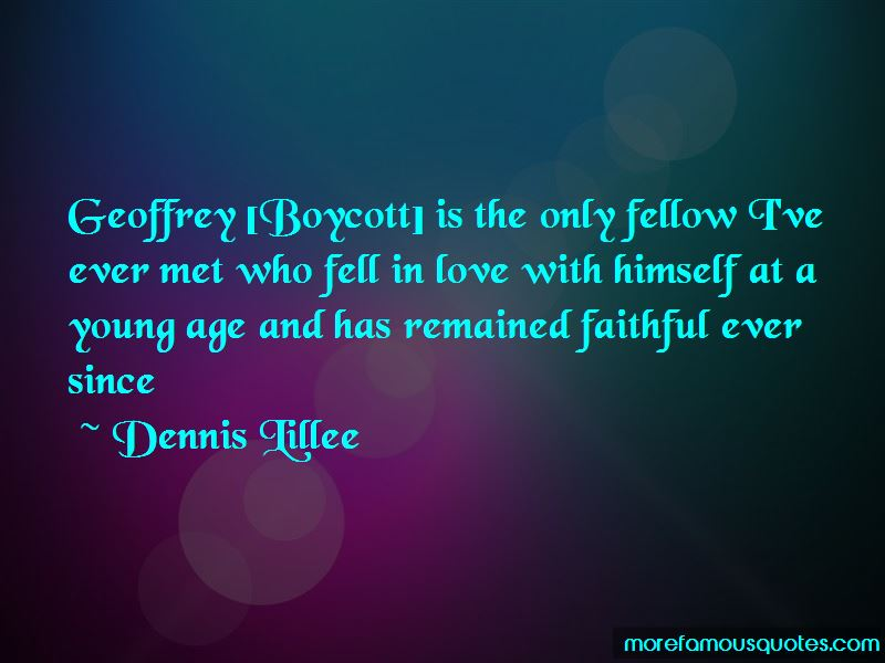 Quotes About Geoffrey Boycott