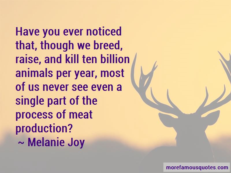 Quotes About Meat Production
