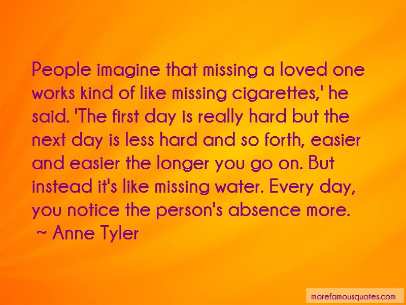 thought on missing a loved one