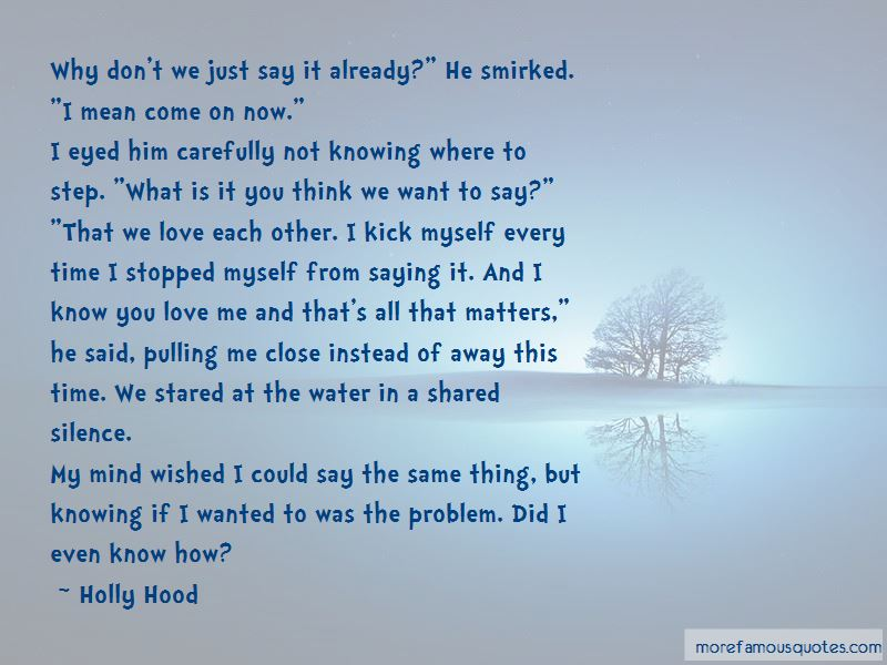 Quotes About Not Knowing Love