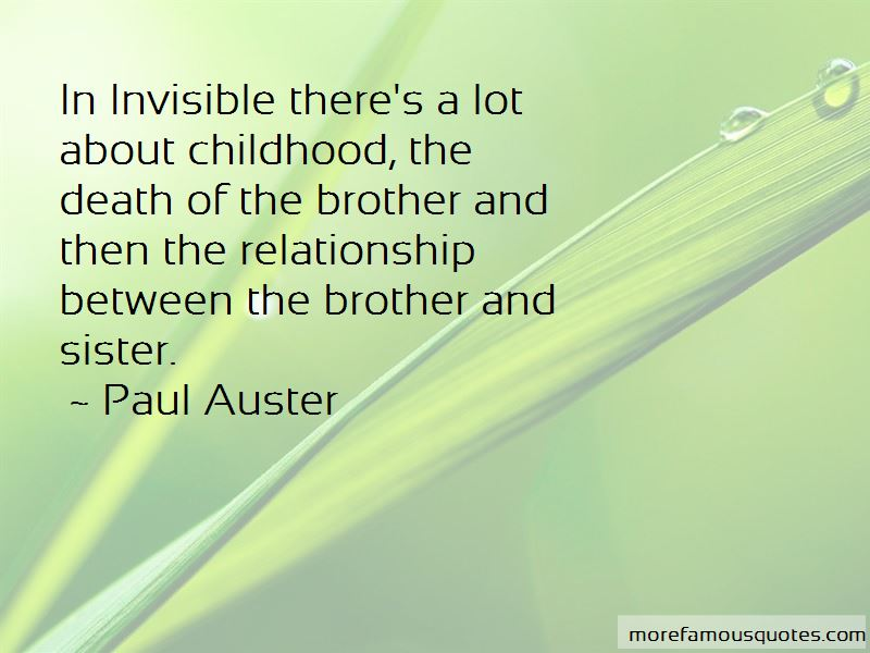 Quotes About The Relationship Of Sister And Brother