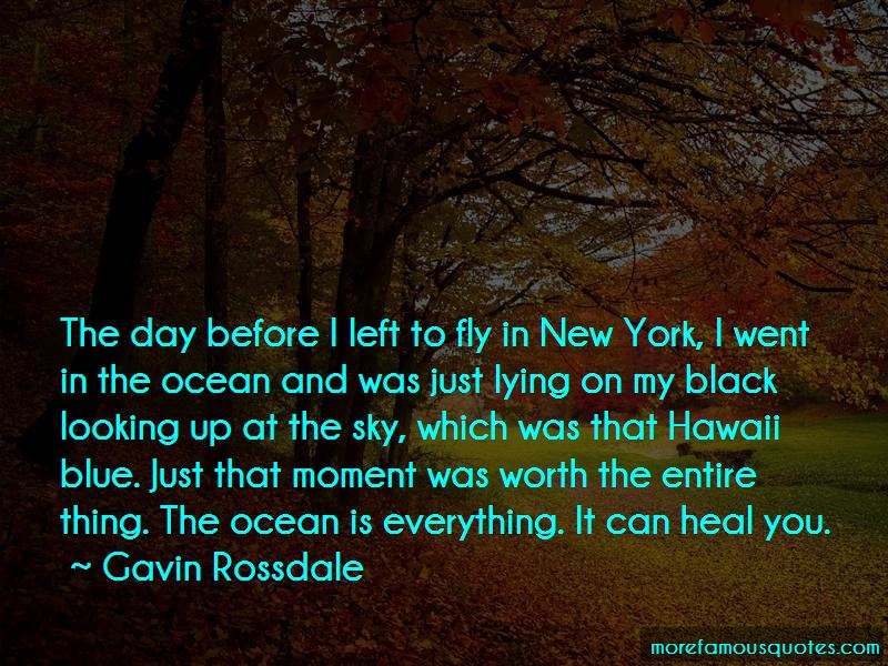 Blue Sky And Ocean Quotes