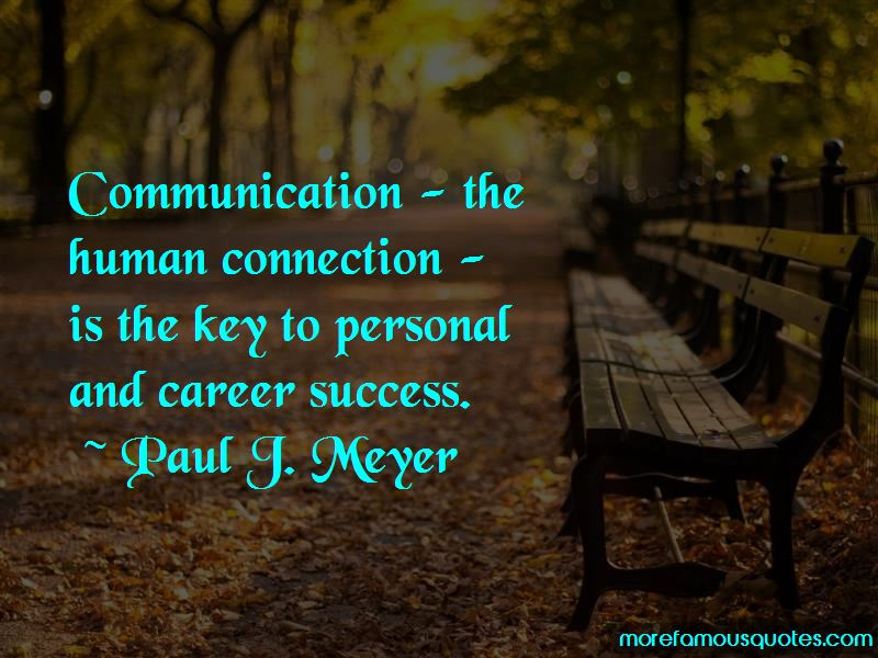 Communication Is Key To Success Quotes